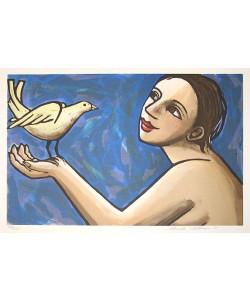 Klein Anita Wintervogel  (30) (Lithographie, handsigniert, num.)