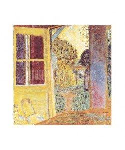 Pierre Bonnard, Zum Garten geöffnete Tür, 1924