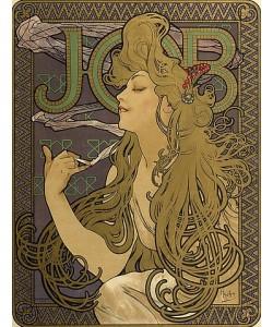 Alfons Maria Mucha, Werbeplakat für 'JOB'. 1897