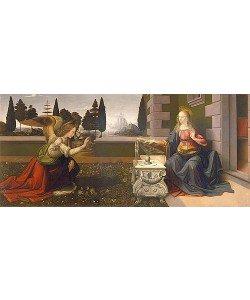 Leonardo da Vinci, Die Verkündigung Mariae. Ca. 1475-1480.