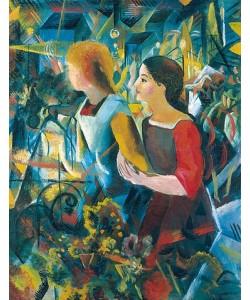 August Macke, Zwei Mädchen. 1913