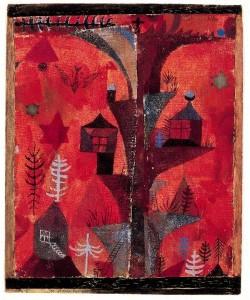 Klee Paul Der Häuserbaum, 1918 (6-8 Farben Faksimilie Druck auf 270g Rives-Bütten)