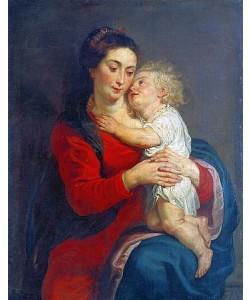 Peter Paul (Werkstatt) Rubens, Maria mit dem Jesuskind