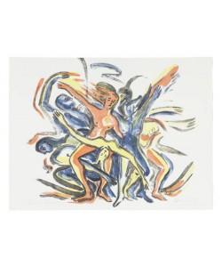 Heinisch Barbara Karussell des Lebens I gelb (Lithographie, handsigniert, Andruck)