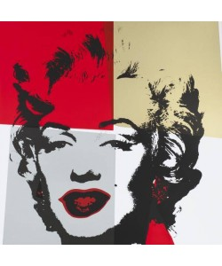 Warhols Sunday B.Morning Edition  Marilyn Gold Kopf IV (Siebdruck)