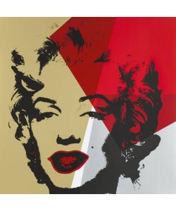 Warhols Sunday B.Morning Edition  Marilyn Gold Kopf VI (Siebdruck)