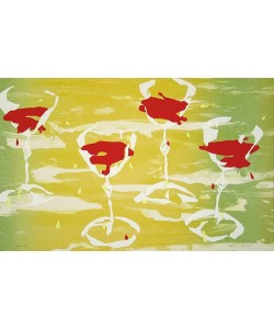 Richter Melanie Red Wine Glasses (Litho + Siebdruck, handsigniert, nummeriert)