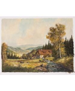 Frühmesser Josef Mühle im Gebirge (Öl auf Leinwand)