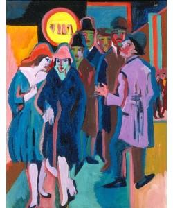 Ernst Ludwig Kirchner, Nächtliches Strassenbild (Recto). 1925.