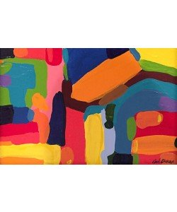 Borba Bel Abstract 5 (25) (Acryl auf Leinwand, Unikat inkl. Rahmen)