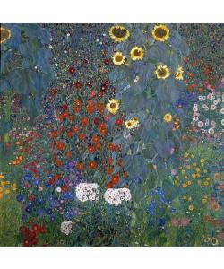 Gustav Klimt, Bauerngarten mit Sonnenblumen. 1905/06