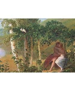 """Caspar David Friedrich, """"""""Liebespaar, Detail aus """"""""""""""""Der Sommer"""""""""""""""". 1807"""""""""""""""""""