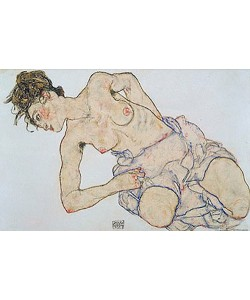 Egon Schiele, Weiblicher Halbakt. 1917