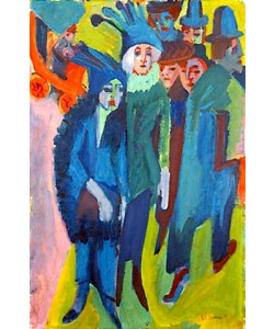 Ernst Ludwig Kirchner, Straßenszene. 1914/22