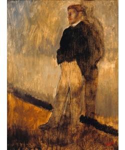 Edgar Degas, Bildnis eines stehenden Mannes mit den Händen in den Hosentaschen. 1868/1869