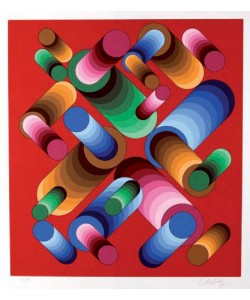 Vasarely Victor Oslop III (30) (Siebdruck 1989, handsigniert, nummeriert)