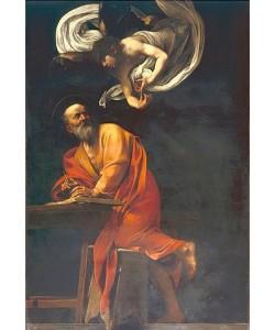 Michelangelo Merisi da Caravaggio, Der Heilige Matthäus mit Engel. 1602.