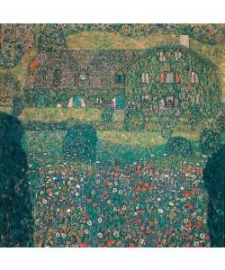 Gustav Klimt, Landhaus am Attersee. 1914.