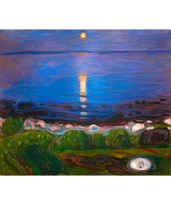 Edvard Munch, Sommernacht am Meeresstrand.