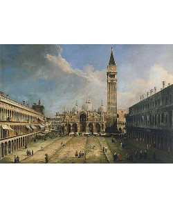 Canaletto (Giovanni Antonio Canal), Die Piazza San Marco in Venedig. 1723.