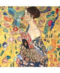 Gustav Klimt, Dame mit Fächer. (D.203). 1917/18