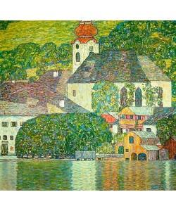 Gustav Klimt, Kirche in Unterach am Attersee. (D.198). Um 1916