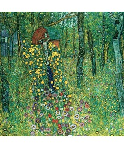 Gustav Klimt, Bauerngarten mit Kruzifix. (D.174). 1911/1912, 1945 verbrannt