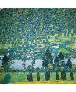 Gustav Klimt, Waldabhang in Unterach am Attersee. 1917 (D.218)