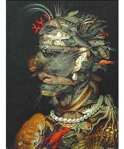 """Giuseppe Arcimboldo, """"""""Allegorie """"""""""""""""Wasser"""""""""""""""". 1566 für Kaiser Maximilian II. gemalt."""""""""""""""""""