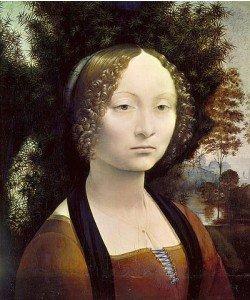 Leonardo da Vinci, Bildnis der Ginevra Benci. 1474-79