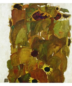 Egon Schiele, Sonnenblumen. 1911