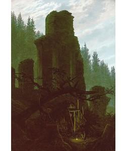 Caspar David Friedrich, Kirchenruine im Wald. Um 1831.