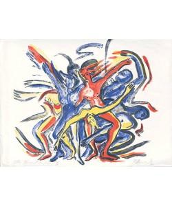 Heinisch Barbara Karussell des Lebens II (Lithographie, handsigniert)