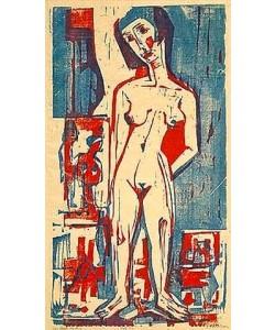 Ernst Ludwig Kirchner, Stehende nackte Frau. 1924.