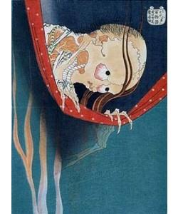 Katsushika Hokusai, Kohada Koheiji. Das Moskitonetz.