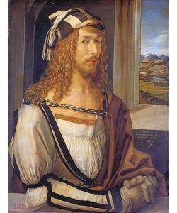Albrecht Dürer, Selbstbildnis mit Landschaft. 1498