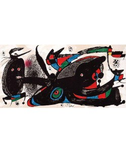 Miro Joan Escultor Great Britain (Lithographie, drucksigniert)