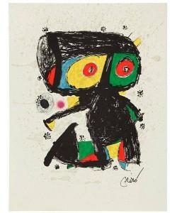 Miro Joan Jubiläum 1979/1980 WVZ 1192 (Lithographie auf Guarro Bütten, drucksigniert)