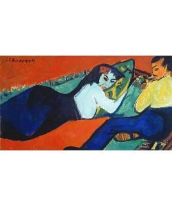 Ernst Ludwig Kirchner, Unterhaltung, Liegende Frau. 1911