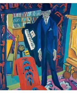 Ernst Ludwig Kirchner, Musikzimmer (Bildnis Botho Gräf). 1914/26