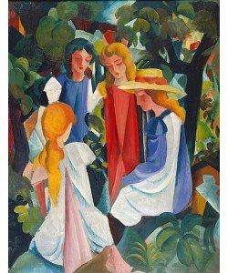 August Macke, Vier Mädchen. 1913