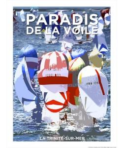 Philip Plisson, Affiche La Trinité sur Mer Paradis de la Voile