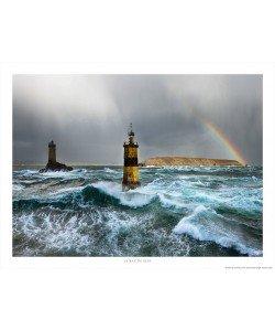 Philip Plisson, Grain sur le phare de la Vieille et sur la pointe du Raz - Bretagne