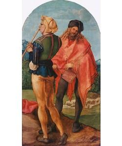 Albrecht Dürer, Jabach-Altar: Pfeifer und Trommler. 1503/05
