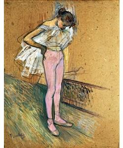 Henri de Toulouse-Lautrec, Tänzerin, ihr Trikot richtend.