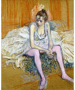 Henri de Toulouse-Lautrec, Sitzende Tänzerin. 1890