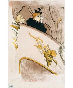 Henri de Toulouse-Lautrec, Die Loge mit der goldenen Maske. (Cover für das Programmheft 'Le Missionaisre'). 1894