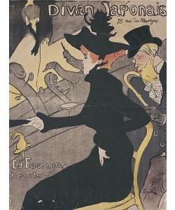 Henri de Toulouse-Lautrec, Plakat Divan Japonais, 75 Rue des Martyres.