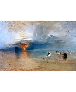 Joseph Mallord William Turner, Strand bei Calais, Fischerfrauen sammeln Köder ein. 1830.