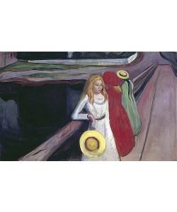 Edvard Munch, Mädchen auf der Brücke. 1900